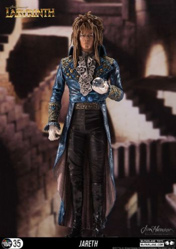 "McFarlane Toys Labyrinth Jareth The Goblin King Figure 7"" Colour Tops"